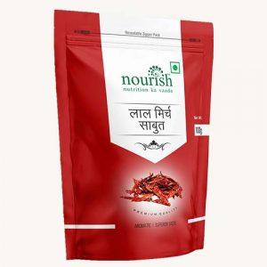Nourish Sabut Lal Mirch 100 gm